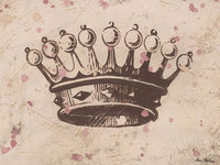 Vintage Crown Canvas Reproduction - Chocolate