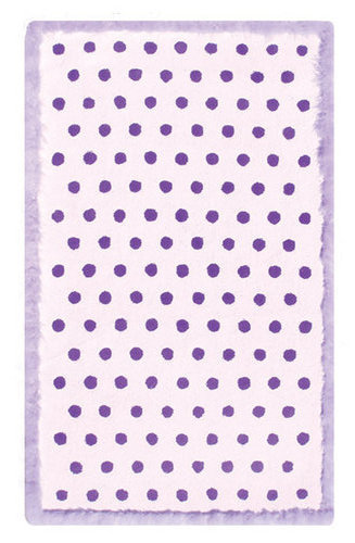 FuFu Dots Purple Rug