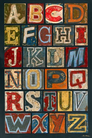 Vintage Alphabet Canvas