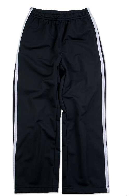 Wes & Willy Boys Tricot Track Pant- Black