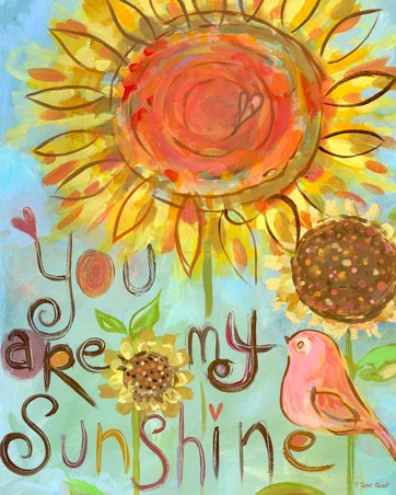 You Are My Sunshine Bird Canvas