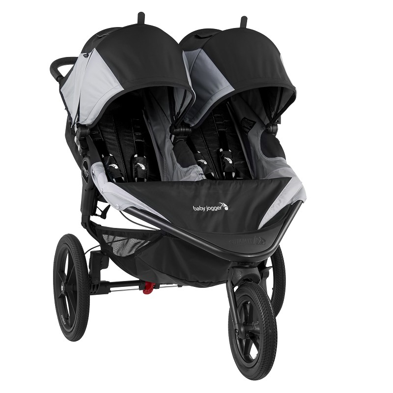 Summit X3 Double Jogger - Black & Gray