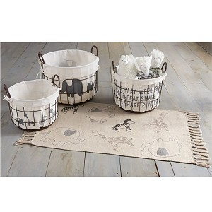 Mud Pie Safari Wire Basket Set