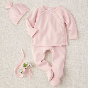 Mud Pie Pink Knit Take-Me Home Set