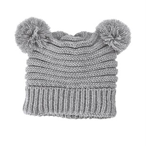 56a024fc3b2c8e Mud Pie Grey Pom Pom Hat | Shop First Christmas Outfits for Baby at Sugar  Babies Boutique!