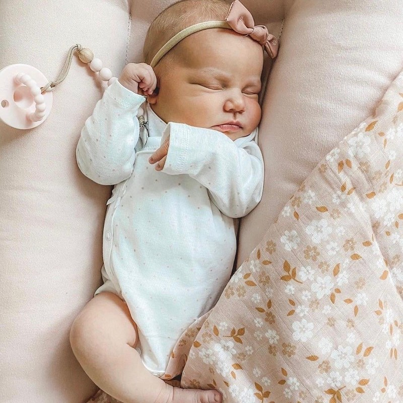 Whimsy Floral Peach Swaddle