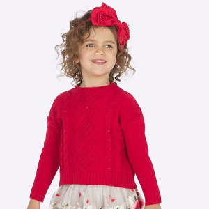 Mayoral Girls Sweater - Red