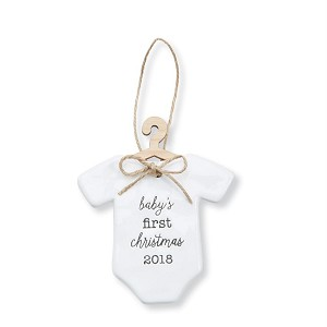 mud pie babys first christmas ornament 2018 onesie style