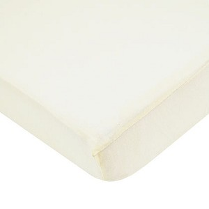 ABC Cotton Jersey Crib Sheet - Ecru