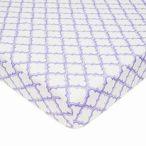 ABC Crib Sheet - Lavender Moroccan