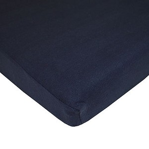 ABC Cotton Jersey Crib Sheet - Navy