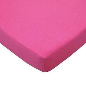ABC Cotton Jersey Crib Sheet - Fuchsia
