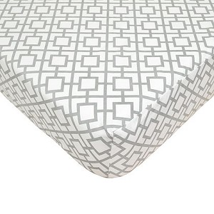 ABC Crib Sheet - Grey Lattice