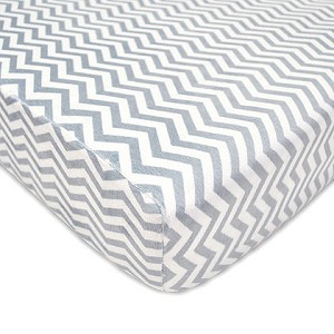 ABC Heavenly Soft Crib Sheet - Grey Chevron