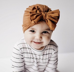 Caramel Bow Turban