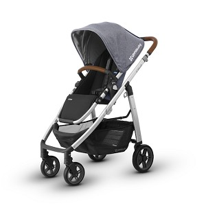 UPPAbaby Cruz - Gregory (Blue Melange/Silver/Leather)