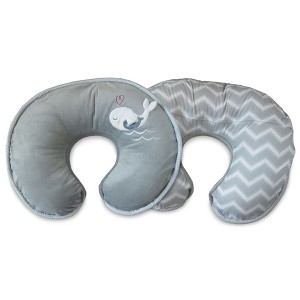 Boppy Luxe Pillow - Grey Whales