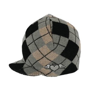 Born to Love Visor Beanie - Argyle
