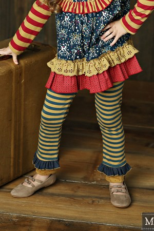 Mustard Pie Griffin Legging - Woodland Magic