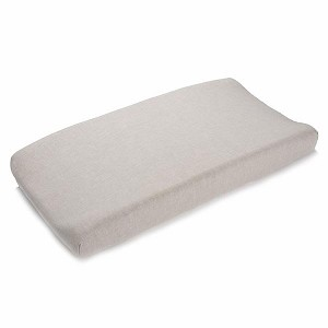 Liz and Roo Contoured Changing Pad Cover - Flax Linen