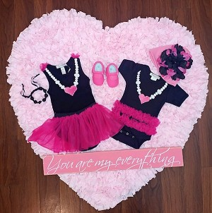 Pearl with Heart Ruffle Bodysuit