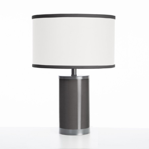 Oilo Black Table Lamp with Gun Metal Finish