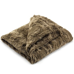 Liz and Roo Faux Fur Security Blanket - Chocolate Truffle