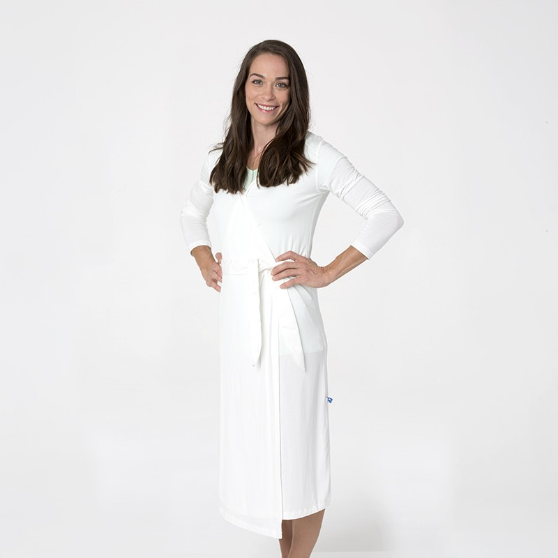 Kickee Pants Women's Solid Basic Robe - Natural