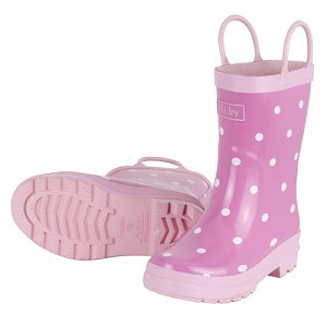 Hatley Rainboots - Pink & White Dots