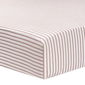 Liz and Roo Crib Sheet - Classic Red Stripe
