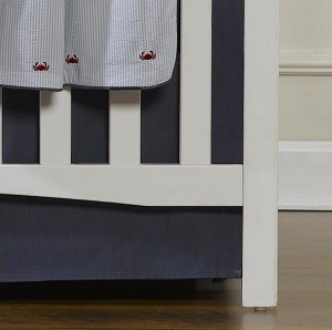 Liz and Roo Crib Skirt - Solid Navy