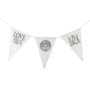 To The Moon & Back Canvas Banner - Grey