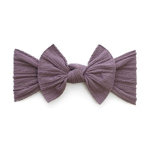 Cable Knit Bow Knot Headband - Lilac