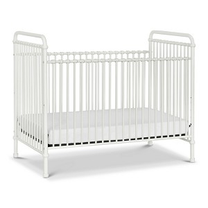 MDB Classic Abigail 3-in-1 Iron Crib - Washed White