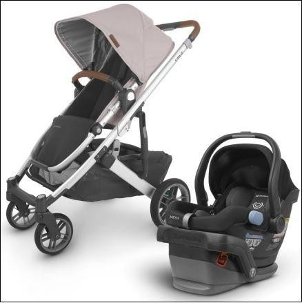 2020 UPPAbaby Cruz V2 Stroller & Mesa Car Seat- Alice (Dusty Pink/Silver/Saddle Leather)