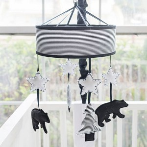 Little Black Bear Crib Mobile