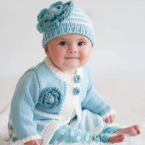 Huggalugs Lagoon Hat & Sweater Set