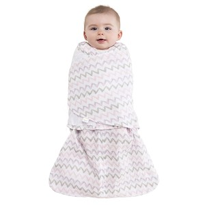 HALO Muslin SleepSack Swaddle - Chevron Pink