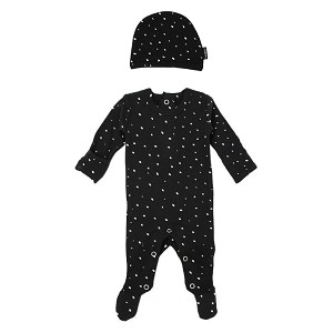 Organic Long Sleeve Footed Overall Set - Confetti