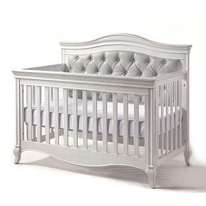 e48120f46f0bb Pali Diamante Forever Crib in Vintage White with Gray Back