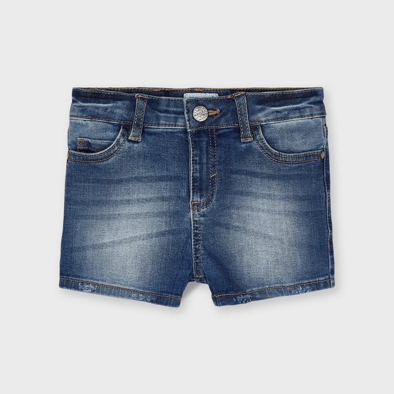 Mayoral Medium Wash Denim Shorts
