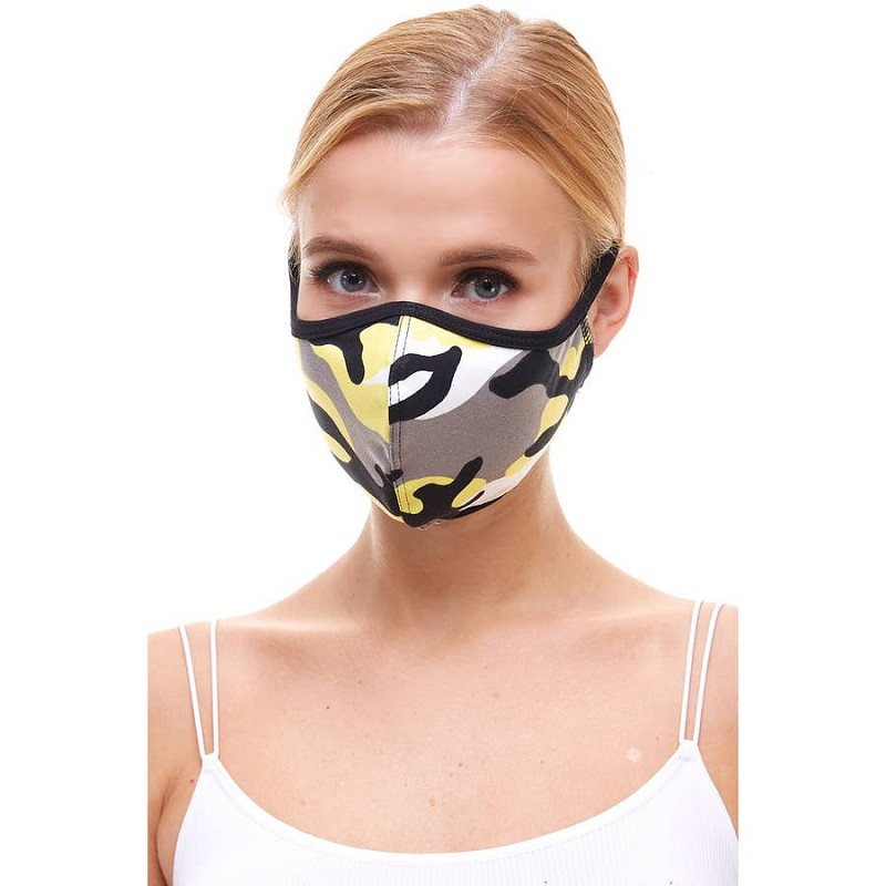 Face Mask - Camo Yellow (Kids)