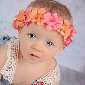 2a239a915c6 Jamie Rae Flowerette Geranium Crown in Pink and Orange