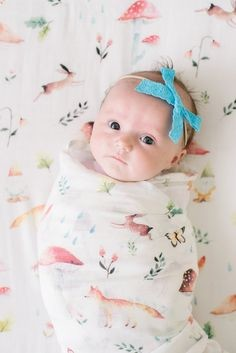 Luxe Bamboo Muslin Swaddle - Woodland Gnome
