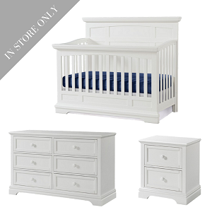 Highland Park Crib, Dresser & Nightstand Package - White (Boutique Exclusive!)