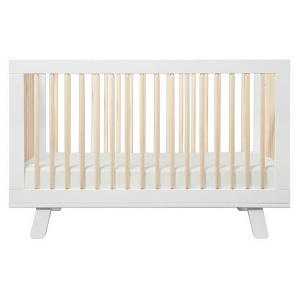 Babyletto Hudson 3-in-1 Convertible Crib - White & Natural