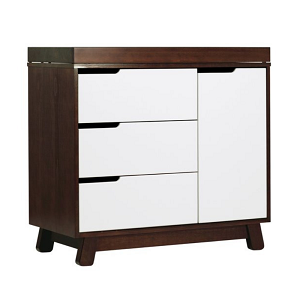 Babyletto Hudson 3-Drawer Changer Dresser - Espresso & White