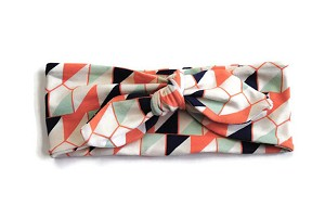 Tie Knot Headband In Peach Diamond From Precious Little Tot