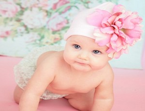 Pale Pink Hat with Candy Pink Peony