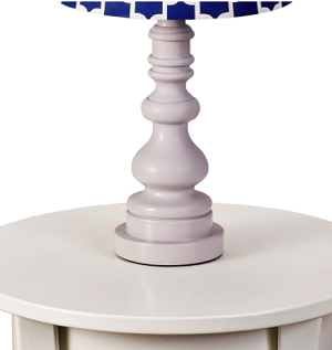 Living Textiles Spindle Lamp Base - Grey